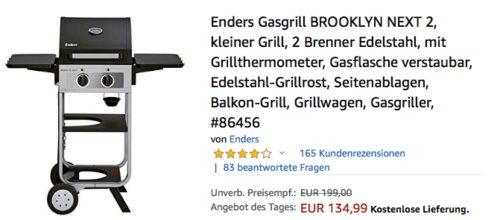 Enders Gasgrill BROOKLYN NEXT 2, 2-Brenner - jetzt 13% billiger