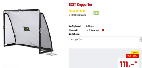 Exit Coppa Fußballtor, 220x170cm - jetzt 9% billiger