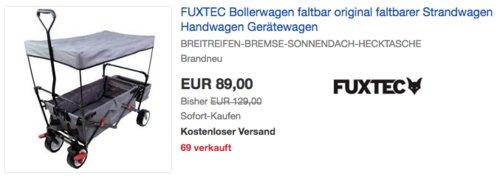 FUXTEC Bollerwagen CT350,  grau - jetzt 11% billiger