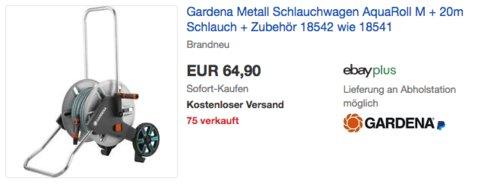 Gardena Metall Schlauchwagen AquaRoll M inkl. 20m Schlauch und Zubehör (18542, 18541) - jetzt 23% billiger
