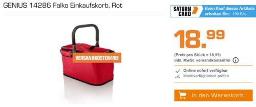 GENIUS 14286 Falko Einkaufskorb, rot - jetzt 36% billiger