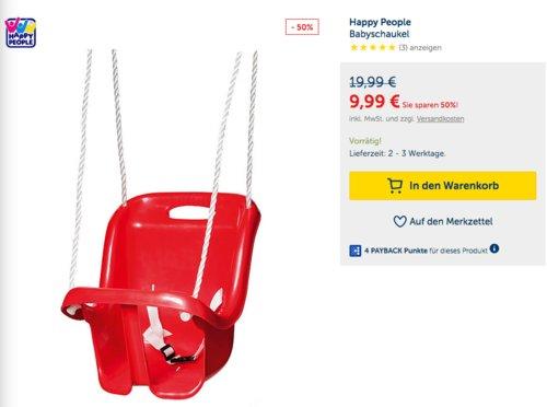 Happy People Babyschaukel, rot - jetzt 24% billiger