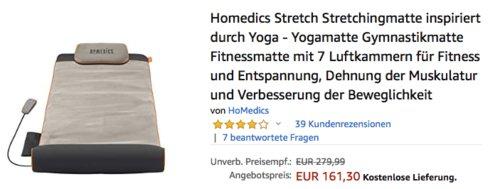 Homedics Stretch Stretchingmatte/Yogamatte mit 7 Luftkammern für Fitness und Entspannung - jetzt 5% billiger