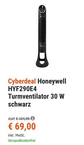 Honeywell QuietSet® Turmventilator HYF290E4, schwarz - jetzt 16% billiger