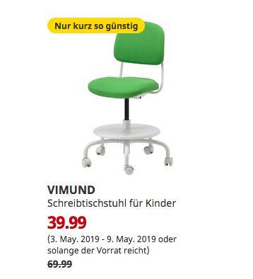 IKEA Berlin-Tempelhof - VIMUND Schreibtischstuhl für Kinder, leuchtend grün - jetzt 43% billiger
