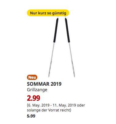 IKEA Berlin-Waltersdorf - SOMMAR 2019 Grillzange, Edelstahl,42 cm lang - jetzt 50% billiger