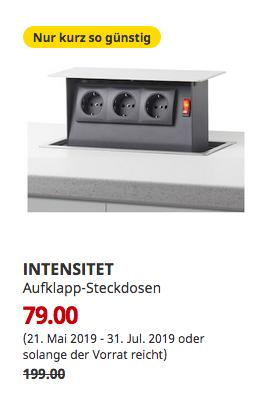IKEA Bielefeld - INTENSITET Aufklapp-Steckdosen - jetzt 60% billiger