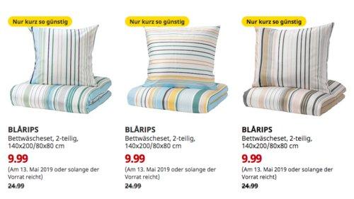 IKEA Bremerhaven - BLARIPS Bettwäscheset, 2-teilig, 140x200/80x80 cm - jetzt 60% billiger