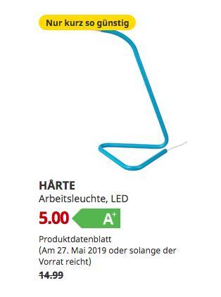 IKEABremerhaven - HARTE Arbeitsleuchte, LED, blau,32 cm hoch - jetzt 67% billiger
