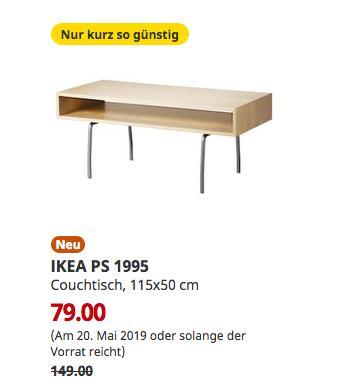 IKEA Bremerhaven - IKEA PS 1995 Couchtisch, Birke weiß, 115x50 cm - jetzt 47% billiger