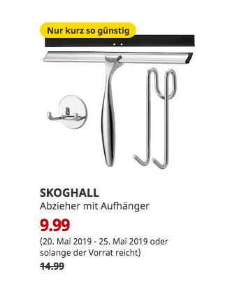 IKEA Dortmund - SKOGHALL Abzieher mit Aufhänger - jetzt 33% billiger