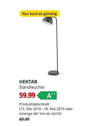IKEA Dresden - HEKTAR Standleuchte, 181 cm hoch, dunkelgrau - jetzt 14% billiger