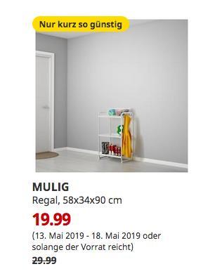 IKEA Frankfurt - MULIG Regal, weiß, 58x34x90 cm - jetzt 33% billiger