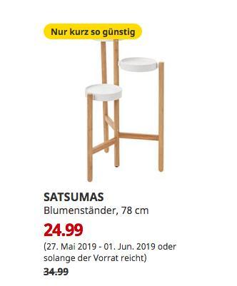 IKEA Frankfurt - SATSUMAS Blumenständer, Bambus, weiß, 78 cm hoch - jetzt 29% billiger