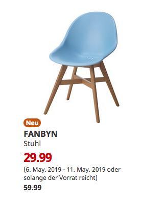 IKEA Großburgwedel - FANBYN Stuhl, hellblau - jetzt 50% billiger