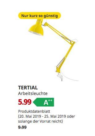IKEA Großburgwedel - TERTIAL Arbeitsleuchte, gelb - jetzt 40% billiger