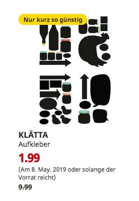 IKEA Hamburg-Altona - KLÄTTA Aufkleber, Schiefertafel-Motive - jetzt 80% billiger