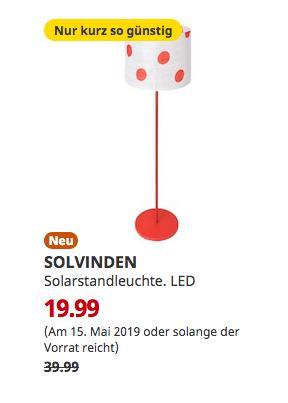 IKEA Hamburg-Altona - SOLVINDEN Solarstandleuchte, gepunktet rot, 150 cm hoch - jetzt 50% billiger