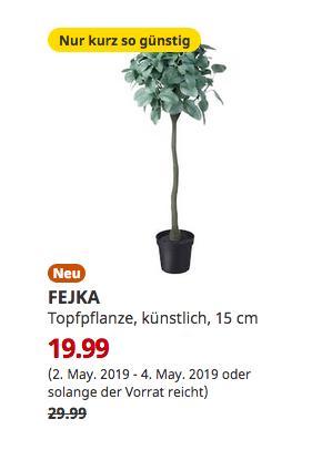 IKEA Hamburg-Moorfleet - FEJKA Topfpflanze, künstlich, Eukalyptus Stamm, 94 cm hoch - jetzt 33% billiger