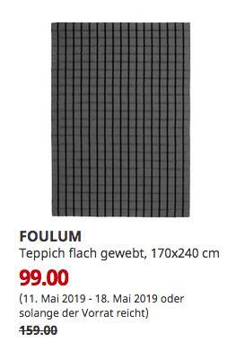 IKEA Hamburg-Schnelsen - FOULUM Teppich flach gewebt, 170x240 cm - jetzt 38% billiger
