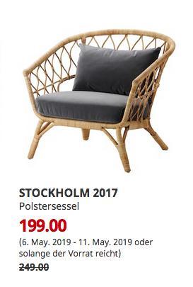 IKEA Hamburg-Schnelsen - STOCKHOLM 2017 Polstersessel, Rattan, Sandbacka dunkelgrau - jetzt 20% billiger