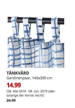 IKEA Hamburg-Schnelsen - TÄNKVÄRD Gardinenpaar, 145x300 cm - jetzt 40% billiger