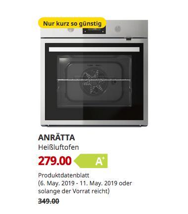IKEA Hanau - ANRÄTTA Heißluftofen, Edelstahl,59.5 cm breit - jetzt 20% billiger