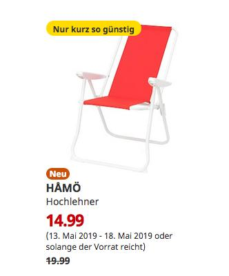 IKEA Hanau - HAMÖ Hochlehner, rot - jetzt 25% billiger