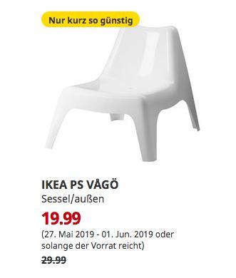IKEA Hanau - IKEA PS VÅGÖ Sessel/außen, weiß - jetzt 33% billiger