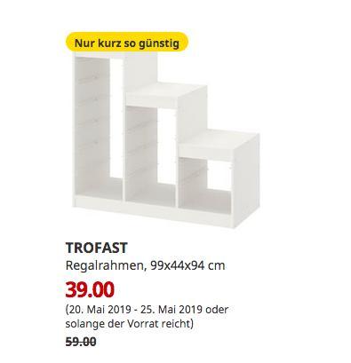 IKEA Hanau - TROFAST Regalrahmen, weiß, 99x44x94 cm - jetzt 34% billiger