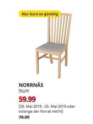 IKEA Köln-Am Butzweilerhof - NORRNÄS Stuhl, Birke, Isunda grau, 95 cm hoch - jetzt 25% billiger