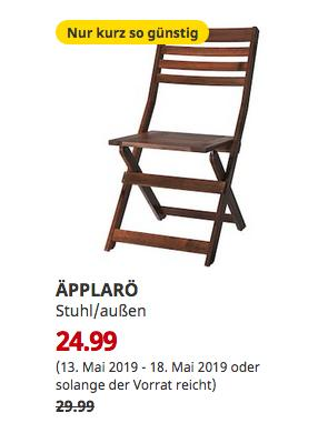 IKEA Köln-Godorf - ÄPPLARÖ Stuhl/außen, faltbar braun - jetzt 17% billiger