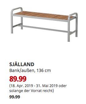 IKEA Köln-Godorf - SJÄLLAND Bank/außen, hellgrau, hellbraun, 136 cm - jetzt 10% billiger