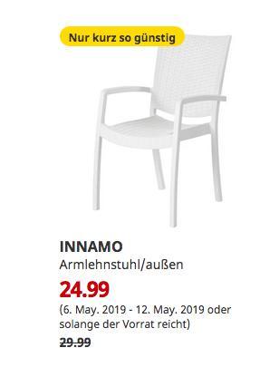 IKEA Kaarst  - INNAMO Armlehnstuhl/außen, weiß - jetzt 17% billiger