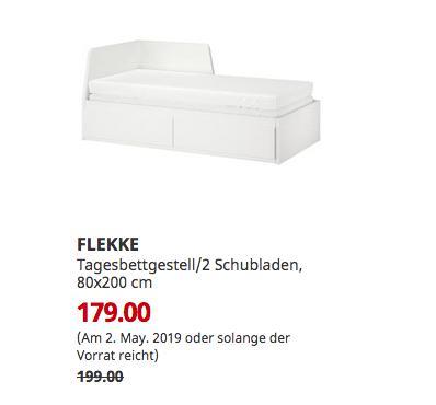 IKEA Kaiserslautern - FLEKKE Tagesbettgestell/2 Schubladen, weiß, 80x200 cm - jetzt 10% billiger