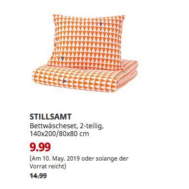 IKEA Kaiserslautern - STILLSAMT Bettwäscheset, 2-teilig, hellorange, 140x200/80x80 cm - jetzt 33% billiger