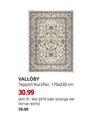 IKEA Kaiserslautern - VALLÖBY Teppich Kurzflor, beige, blau, 170x230 cm - jetzt 61% billiger