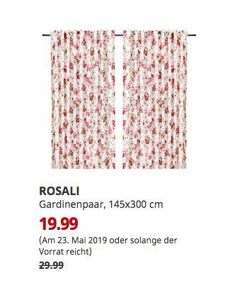 IKEA Koblenz - ROSALI Gardinenpaar, weiß, Blume, 145x300 cm - jetzt 33% billiger