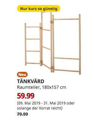 IKEA Magdeburg - TÄNKVÄRD Raumteiler, 180x157 cm - jetzt 25% billiger