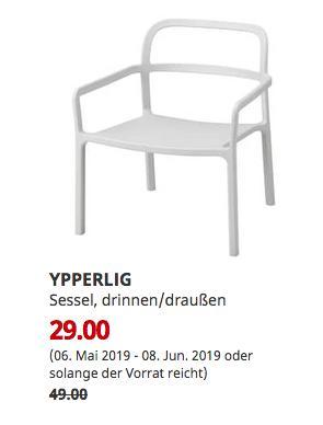 IKEAMannheim - YPPERLIG Sessel, drinnen/draußen, hellgrau - jetzt 41% billiger