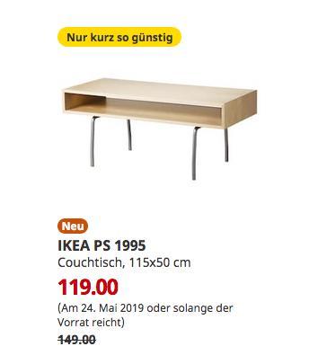 IKEA Oldenburg - PS 1995 Couchtisch, Birke weiß, 115x50 cm - jetzt 20% billiger