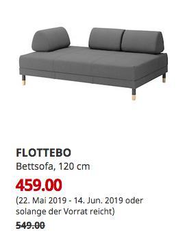 IKEA Osnabrück - FLOTTEBO Bettsofa, Lysed dunkelgrau, 200x120 cm - jetzt 16% billiger