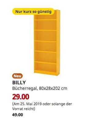 IKEA Regensburg - BILLY Bücherregal, gelb, 80x28x202 cm - jetzt 41% billiger