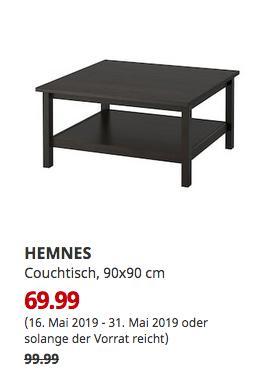 IKEA Sindelfingen - HEMNES Couchtisch, schwarzbraun, 90x90 cm - jetzt 30% billiger