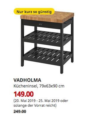 IKEA Ulm - VADHOLMA Kücheninsel, schwarz, Eiche, 79x63x90 cm - jetzt 40% billiger