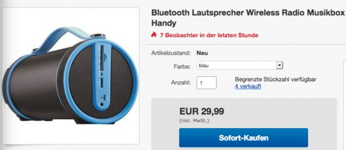 IMPERIAL BEATSMAN 2.1 Stereo Bluetooth-Lautsprecher, versch. Farben - jetzt 32% billiger