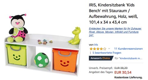 """IRIS Kindersitzbank """"Kids Bench"""", weiß - jetzt 20% billiger"""