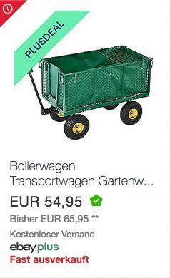 Juskys Transportwagen/Gartenwagen mit abnehmbarer Plane, 200 Liter, max. 550 kg - jetzt 10% billiger