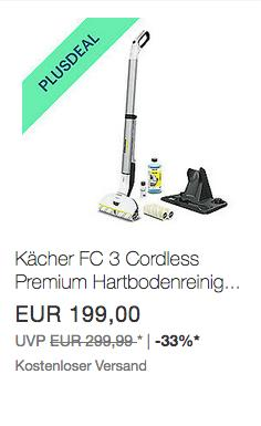 Kärcher FC 3 Cordless Premium Akku-Hartbodenreiniger (Waschsauger) - jetzt 10% billiger