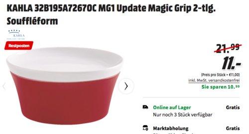 Kahla Magic 14cm Grip Soufflé-Form mit Deckel, rot - jetzt 52% billiger